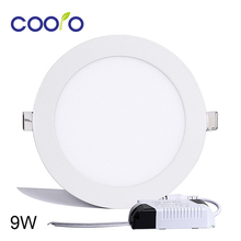 AC110/220V LED Panel Light 9W LED ceiling Light Round Ultra thin LED downlight(China)