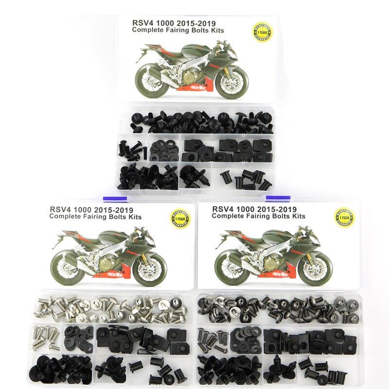 For Aprilia RSV4 Factory RSV4 R 2010-2015 CNC Fairing Bolt Kit Bodywork Screws