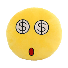 FJS-New Novelty Emoji cushion Design Soft Cushion Pillow Gift for Home Car Camping 5