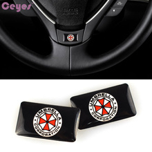 Car-Styling Sport Wheel Badge Car Sticker Emblem Decals Logo Fit For Bmw M Power Umbrella Corporation Mercedes Smart Car Styling