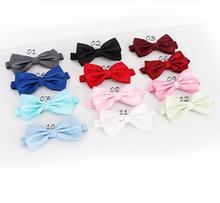 solid color butterflies butterfly bowknot bow tie knot bowtie men's necktie neck ties polyester ascot cravat(China)