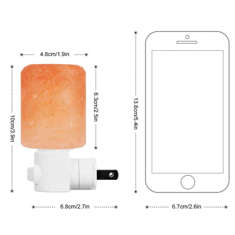 Horsten Mini Crystal Salt Light Lamp Himalayan Natural Hand Carved Rotatable Night Light Air Purifier EU US UK Plug For Bedroom3