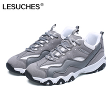 Men's Running Shoes LESUCHES Black Grey Sneakers Men Outdoor Athletic Shoes Track & Field Shoes Zapatillas Deporte Mujer RnA28(China)
