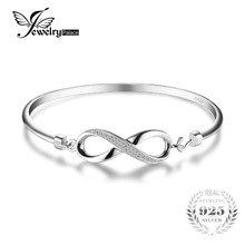 JewelryPalace Forever Love Infinity Anniversary Bangle Bracelet Pure 925 Sterling Silver Jewelry Wedding Bracelet(China)
