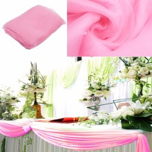 1.35*5M unit 21 colors Sheer  organza Stiff Fabric  Wedding Christmas decorations light pink color Factory direct good service