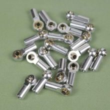 10 Pcs Sliver Aluminum M3 Metal Ball Head Holder For Axial SCX10 Link Rod End Ball Joint  1/10 RC Car Truck Buggy Crawler