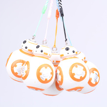 Disney Star Wars Spherical robot BB-8 7cm Phone to justice key ring pendant Ornaments hand to do model doll toy Kids