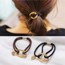 M MISM 1PC Top Sale Cute Simple Punk style Elastic Hair Bands For Women Scrunchy Metal headbands For Hair Jewelry