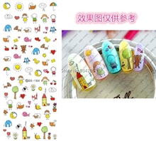 DS184 DIY Nail Design Water Transfer Nails Art Sticker Cute Cartoon Picture Nail Wraps Sticker Watermark Fingernails Decals