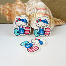 Cartoon patch Hello Kitty Figurine KT cat anna crafts flat back  resin acrylic DIY headwear hair accessories PR366