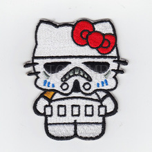Hello Kitty  Stormtrooperl Kitty Military Tactics Morale Embroidery patch Badges B2549