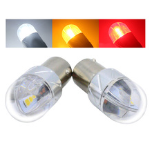 2X 12V-24V S25 P21W 1156 BA15S Led Light Blub 3030 6 LED Yellow White Reverse Light Backup Lamp Tail Bulb Turn Signal Lights