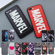 Hot Cartoon Advisory Hard Case For iphone 6 6s Plus 7 8 Plus Anime Marvels Phone Cover For iphone X 5s SE Capa Coque Funda case(China)