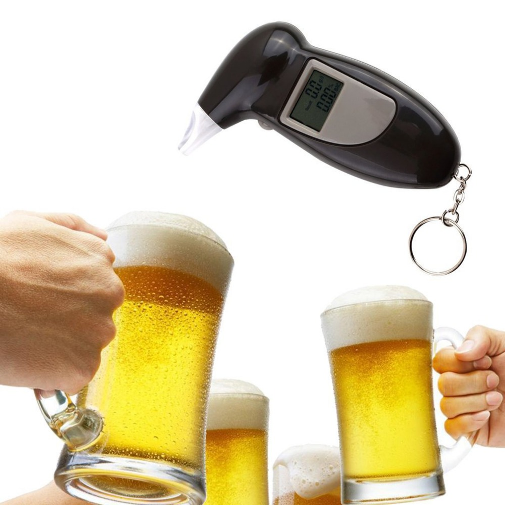 Detector Breathalyzer-Analyzer Test-Keychain Alcohol-Breath-Tester Devicelcd-Screen title=