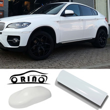 1.52x30m/Roll High Glossy White Vinyl Wrap Car Wrap with Air Bubble Shiny White Vinyl Ultra Gloss Wrap Film black wrap