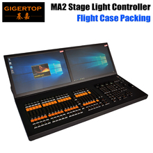 Gigertop MA 2 Stage Lighting Controller DMX Console 2 Internal TFT Wide Touchscreens Midi/LTC Input Command Wing Black Hourse
