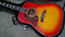 left hand Hummingbird Acoustic Guitar AAA top Solid spruce Sunburst Color guitar