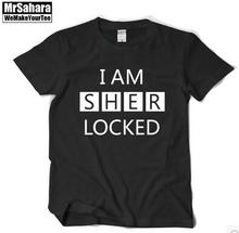 Detective sherlock Sherlock Holmes Chambers batch Volume f With short sleeves T-shirt Men and women I am sherlocked
