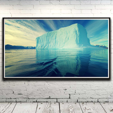 Iceberg Clouds Sky Seascape Landscape Art Silk Poster Prints Home Decor Pictures 11x20 16x29 20x36 Inches Unframed Free Shipping