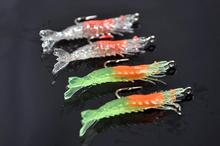 free shipping 6cm 3g soft lure shrimp lure artificial bass lure pesca fishing tackle Japanese fishing lure 16pcs/lot swimbait(China)