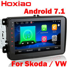 Android 7.1 Car radio 2 din DVD Gps Player universal Navigation For VW/Volkswagen/POLO/PASSAT/Golf/Skoda/Rapid/Seat Wifi FM/AM(China)