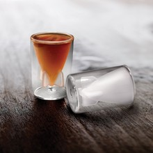 Free Shipping 12Pieces Bombs Away Shot Glasses Missile Shot Glass 44ml Double Walled Glass Novelty Shot