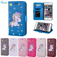 Buy Howanni Unicorn Pattern Leather Case Apple iPhone 8 Case Flip 4.7 Inch Wallet Stand Cover iPhone 8 Cover Capa for $4.74 in AliExpress store