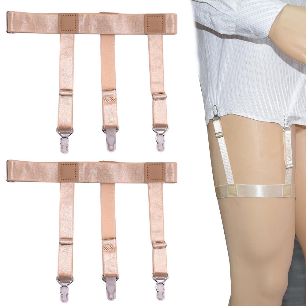 Men's Accessories Men's Suspenders Mens Shirt Stays Garter Straps Adjustable Elastic Sock Suspenders For Mens Business Legs Shirt Garter Belts Beautiful In Colour