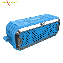 ZEALOT S6 Waterproof Speaker Portable Wireless Bluetooth Speakers Dual Drivers Super Bass Hifi Subwoofer 4000mAh Power Bank