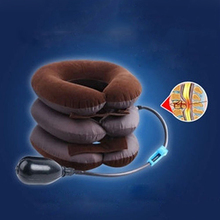 Hot Sell Good QualityCervical Neck Traction Device Headache Shoulder Pain Relax Brace Support Pillow(China)
