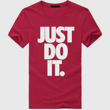 JUST DO IT  Letter Print Men Boy Casual T-Shirt Basketballer Tee Shirt Top New Fashion Cotton T-Shirts 100% Cotton Short Sleeve
