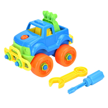 1Set Funny Baby Plastic Car Toy With Tools Disassembly Assembly Classic Cars Truck Toys For Children Learning and Education Toys(China)