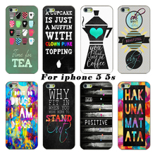 2017 latest fashion phone cases shell protective shell word mark white hard shell cases involving For Apple iPhone 5 5s 5G Case