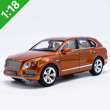 New 1:18 Scale Kyosho Bentley Bentayga SUV Alloy Diecast Model Toy Car For Kids Gifts Free Shipping(China)