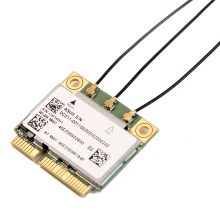 AzureWave AW-CB160H Broadcom BCM94360HMB 802.11AC 1300Mbps Wireless WIFI WLAN Bluetooth 4.0 Mini PCI-E Card + 20cm MHF4 Antennas