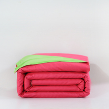 100%cotton red and green duvet cover 150*200/200*230/220*240cm bedding bag twin full queen king size solid simple quilt cover(China)