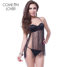 RE7892 Comeonlover Fashionable seductive sexy hot langerie special design tassel sexy erotic babydoll new sexy erotic lingerie(China)
