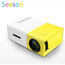 YG300 LED Portable Projector 400-600LM 3.5mm Audio 320 x 240 Pixels YG-300 HDMI USB Mini Projector Home Media Player