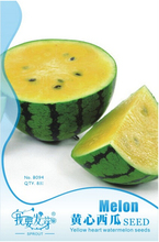Small Yellow Watermelon Sweet Fruit Seeds, Original Pack, 8 Seeds / Pack, Edible Heirloom Melon E3293(China)