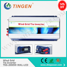 2000W Wind Power Inverter with Dump Load, Grid Tie Inverter for 3 Phase AC 45-90V Wind Generator, MPPT Function(China)