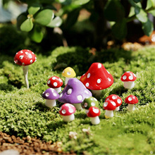 New Style Resin Craft Micro Landscape Decoration Fashion Cute Mini Mushrooms Home Decorative Crafts 8 Colors For House Decor(China)