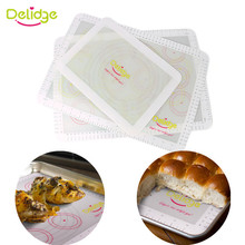 Delidge 1pc Silicone Baking Mat Non-stick Fiberglass Baking Sheet Rolling Dough Pastry Baking Liner Mat Oven Pasta Cake Pad