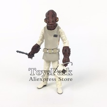 "ToysPark Star Wars Admiral Ackbar 3.75"" 10cm Action Figure Return of the Jedi Black Series Walmart Exclusive Loose Doll Toy(China)"