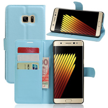 For Samsung Galaxy Note 7 Case Fashion Wallet Design Magnetic Holster Flip PU Leather Case Cover Stylish Simplicity Brown Black(China)