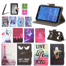 Histers Universal Cover for 8 inch Tablets with IPS 1280*800 IPS Printed PU Leather Stand Case 3 Gifts