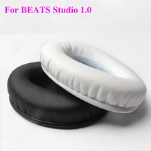 2pcs/pairs Studio 1.0 Leather Foam Headphone Sponge Ear pads buds cushion Earbud Headset Replacement Covers For Monster Beats