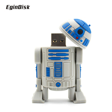 Star Wars R2d2 Pen Drive Catoon Doll Real Capacity PenDrive Anime Usb Flash Drive 8gb 16gb 32gb Disk On Key Gift Usb 2.0 Stick(China)