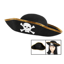 Unisex Dressing Up White Skull Pattern Pirate Bucket Hat Cap