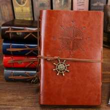 1 Pcs Creative Retro Anchor Faux Leather Cover Notebook Journal Traveler Book Diary Blank String(China)