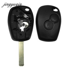 jingyuqin 2 Button Key Case For Renault Duster Modus Clio 3 Twingo DACIA Logan Sandero Uncut Blade Fob Remote Shell Replacement